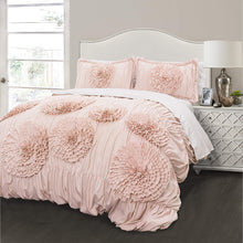 Load image into Gallery viewer, Serena 3 Piece Comforter Set Full/Queen Blush - EK CHIC HOME