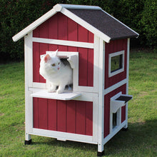 Load image into Gallery viewer, Outdoor Cat Shelter with Escape Door Rainproof Outside Kitty House - EK CHIC HOME