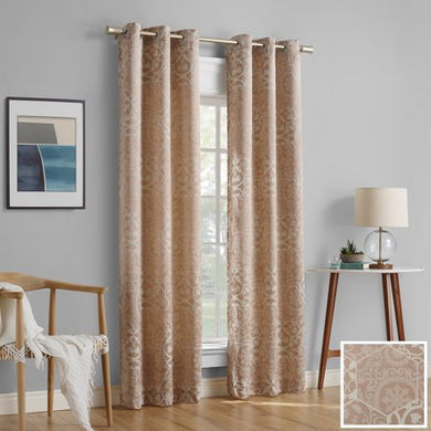 2-pack Cora Medallion Jacquard Blackout Curtain Panel Pair - EK CHIC HOME