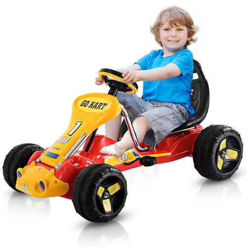 Go Kart Kids Ride On Car Pedal Powered Car 4 Wheel Racer Toy