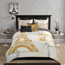Load image into Gallery viewer, Casa Paris Gold 8 Piece Comforter Set Queen - EK CHIC HOME