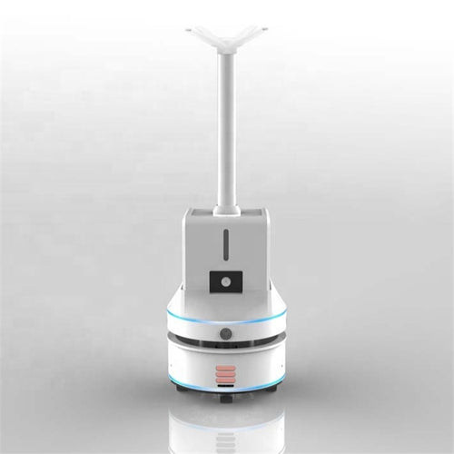 Mobile Thermometry Disinfecting Spray Robot