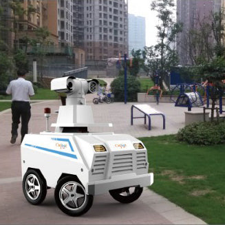 Outdoor Smart Security Robot and Patrol Guard For Public Disinfection