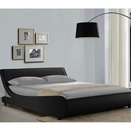 Upholstered Low Profile Platform Bed