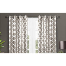 Load image into Gallery viewer, 2 Pack Metallic Geometric Top Curtain Panels - EK CHIC HOME