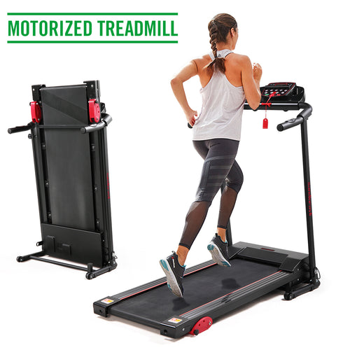 Folding Treadmill 2.0 HP Electric Fitness with LCD display/ iPad and Drink Holder