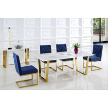 Load image into Gallery viewer, Genuine Marble Cameron Gold Dining Table - EK CHIC HOME
