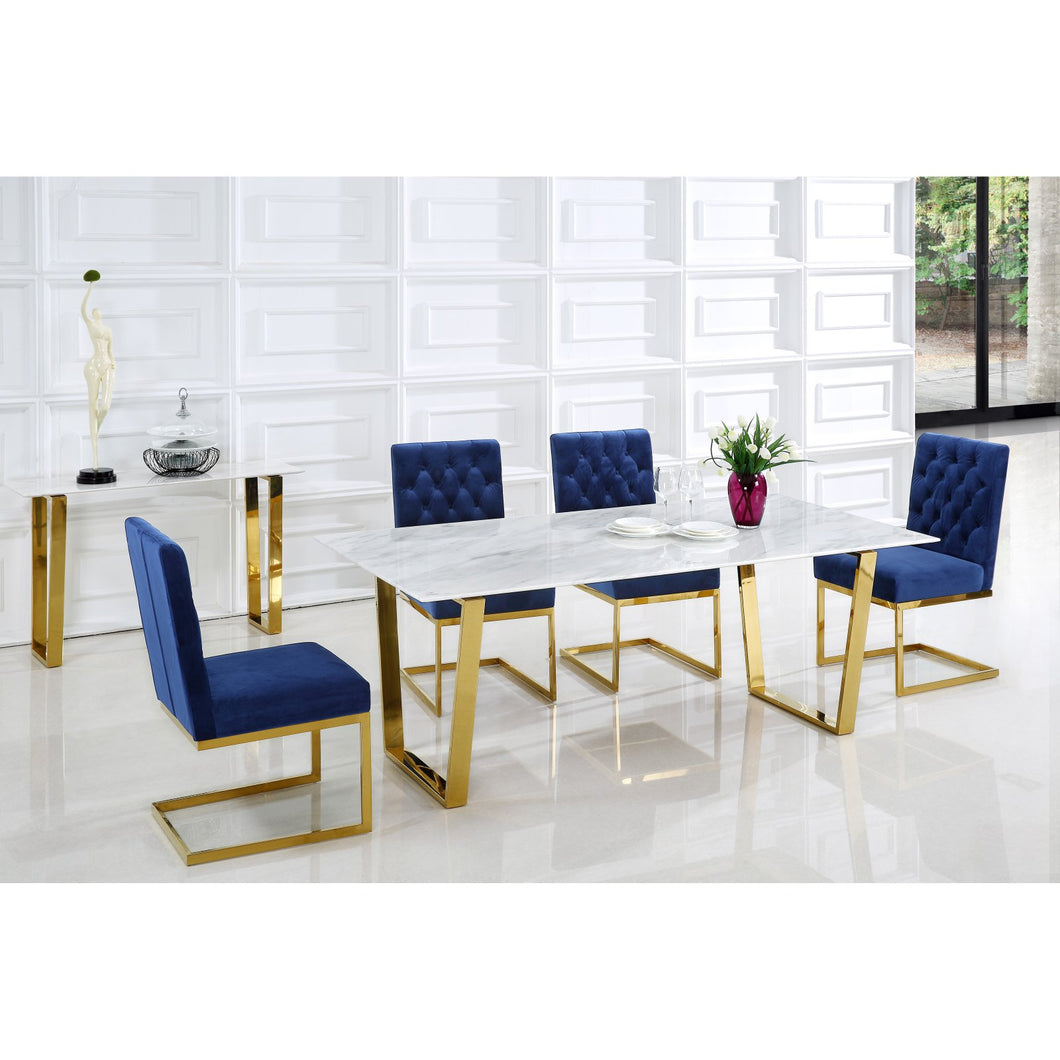 Genuine Marble Cameron Gold Dining Table - EK CHIC HOME
