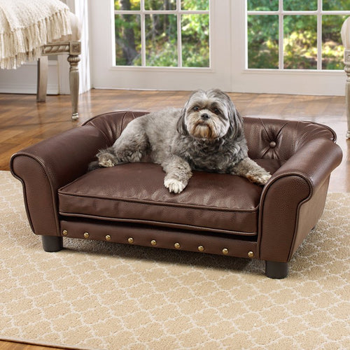 Pet Brisbane Tufted Sofa Dog Bed, Medium, 33