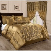 Load image into Gallery viewer, 7-Piece Jacquard Floral Comforter Set - EK CHIC HOME