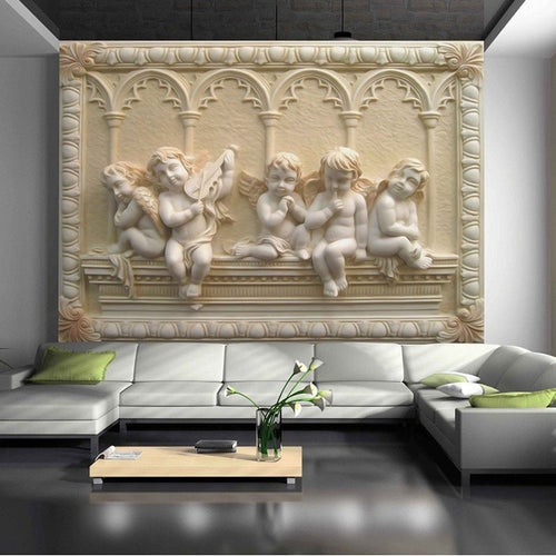 3D Stereoscopic Relief Jade Wall Mural Wallpaper - EK CHIC HOME