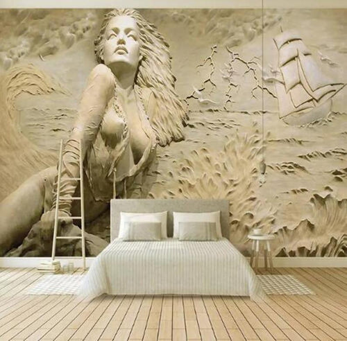 Mural Art Wall Painting European Style Golden 3D - EK CHIC HOME