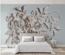 Load image into Gallery viewer, 3D Custom Wall Mural Art Wall Painting Rose Flowers Wallpaper - EK CHIC HOME