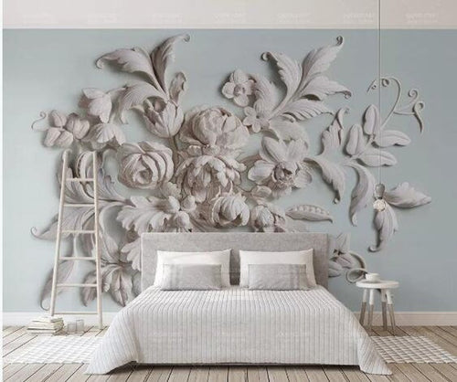 3D Custom Wall Mural Art Wall Painting Rose Flowers Wallpaper - EK CHIC HOME