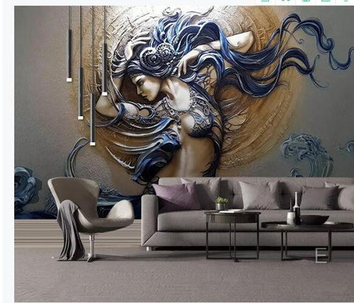 Custom Mural Wallpaper For Walls 3D Stereoscopic Embossed - EK CHIC HOME