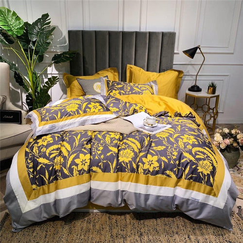 Luxury Egypt Cotton Fashion Printed Bedding Set - EK CHIC HOME