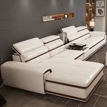 Load image into Gallery viewer, Sectional Luxury Corner Leather Living Set - EK CHIC HOME