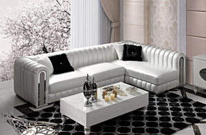 Leather Sofa Post-Modern SECTIONAL Combination Sofa Set - EK CHIC HOME