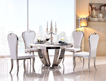 Load image into Gallery viewer, 5PCS Marble AND Stainless Steel Dining Room Set - EK CHIC HOME
