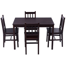 Load image into Gallery viewer, 5PCS Solid Pine Wood Dining Set Table and 4 Chairs - EK CHIC HOME