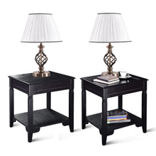 "Load image into Gallery viewer, Set of 2 13"" Antique Brass Bedside Table Lamp w/ LED Bulb Office Bedroom Light - EK CHIC HOME"