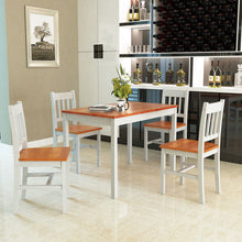 Load image into Gallery viewer, 5PCS Pine Wood Dinette Dining Set Table and 4 Chairs Home Kitchen Furniture - EK CHIC HOME