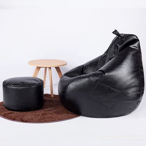 Modern PU Leather Bean Bag Home Leisure With Filler - EK CHIC HOME