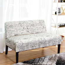 Load image into Gallery viewer, Armless Loveseat Sofa Fabric Settee Bench Bed Chair Wooden Leg - EK CHIC HOME