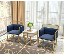 Load image into Gallery viewer, SET of 2 Nordic Simplified Golden Iron Living Room Leisure Chairs - EK CHIC HOME