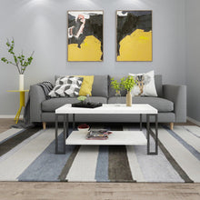 Load image into Gallery viewer, Accent Coffee Table Modern Living Room Furniture Metal Frame w/Lower Shelf - EK CHIC HOME