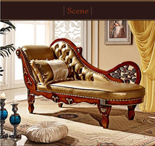 Load image into Gallery viewer, French Design Leather Sofa Chaise - EK CHIC HOME