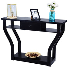 Load image into Gallery viewer, Black Accent Console Table Modern Sofa Entryway Hallway Hall Furniture W/Drawer - EK CHIC HOME
