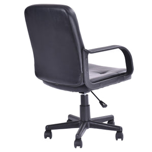 Ergonomic PU Leather Midback Executive Office Chair - EK CHIC HOME