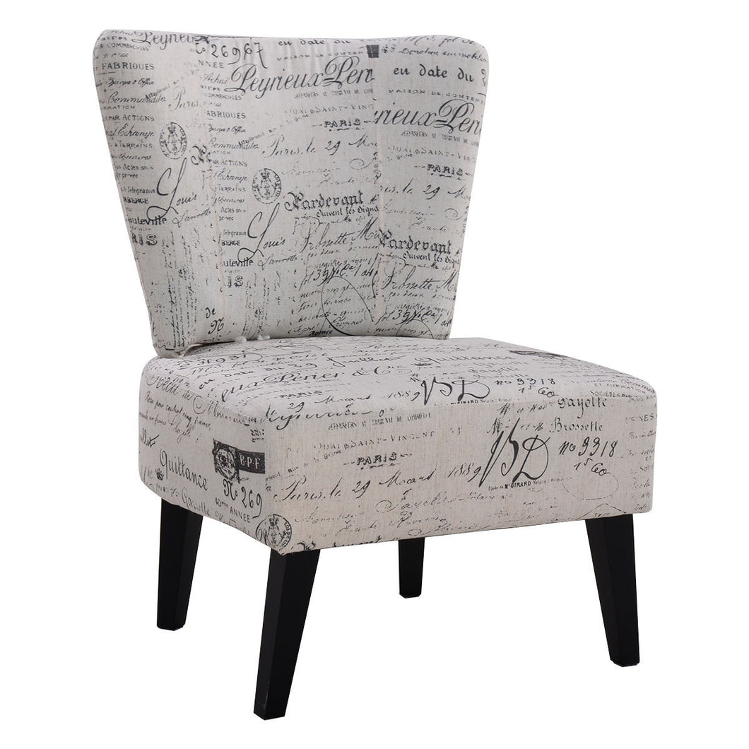 Armless Accent Chair Upholstered Seat Dining Chair Living Room Furniture - EK CHIC HOME