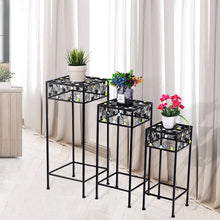 Load image into Gallery viewer, 3 pcs Square Ceramic Beads Decor Metal Plant Stand - EK CHIC HOME
