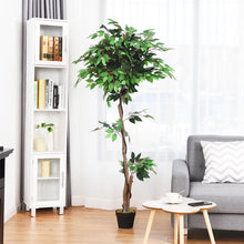 Load image into Gallery viewer, 5.5 ft Artificial Ficus Silk Tree with Wood Trunks - EK CHIC HOME