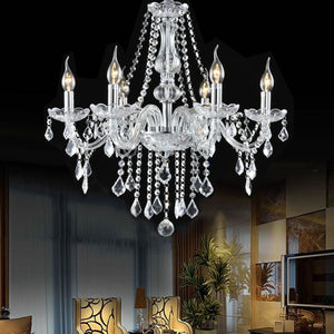 Elegant Crystal Chandelier Ceiling Light - EK CHIC HOME