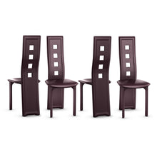 Load image into Gallery viewer, Set of 4 Steel Frame High Back Armless Dining Chairs - EK CHIC HOME