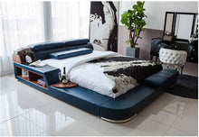 Load image into Gallery viewer, Genuine Leather Modern Soft Beds Home Bedroom Furniture - EK CHIC HOME