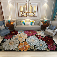 Load image into Gallery viewer, Short Plush Printed Flowers Living Room Area Rugs - EK CHIC HOME