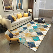 Load image into Gallery viewer, Short Plush Printed Geometric Living Room Area Rug - EK CHIC HOME
