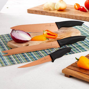 Copper Chef 3pc Cutlery Set - EK CHIC HOME