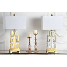 Load image into Gallery viewer, Antique Gold with Off-White Shade, Set of 2 - EK CHIC HOME
