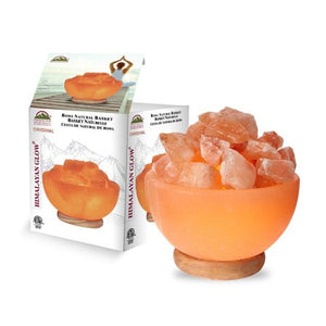 Himalayan Glow Ionic Pink Salt Hand Carved Crystal Bowl Lamp - EK CHIC HOME