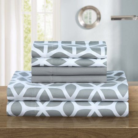 6-Piece Bedding Sheet Set with 2 Bonus Pillowcases - EK CHIC HOME