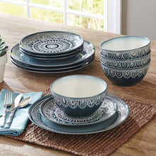 Load image into Gallery viewer, Medallion 12-Piece Dinnerware Set - EK CHIC HOME