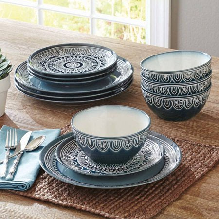 Medallion 12-Piece Dinnerware Set - EK CHIC HOME