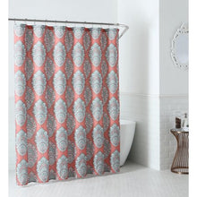 Load image into Gallery viewer, Peach & Oak Shower Curtain - 72x72 - EK CHIC HOME
