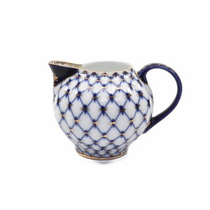 23-pc HQ Dining Tea Cup Set, Russian Saint Petersburg Cobalt Blue Net - EK CHIC HOME