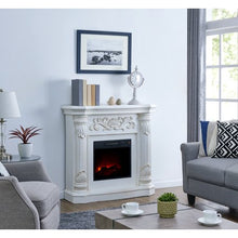 Load image into Gallery viewer, 40 inch Electric Fireplace Heater in White - EK CHIC HOME